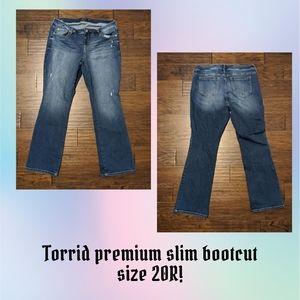 Torrid premium size 20R slim bootcut